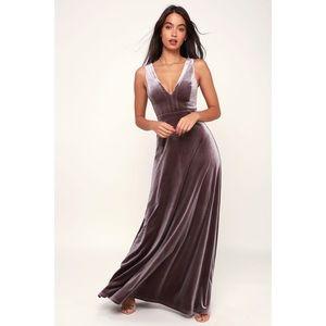 Lulus Beautiful Night Velvet Sleeveless Maxi Dress